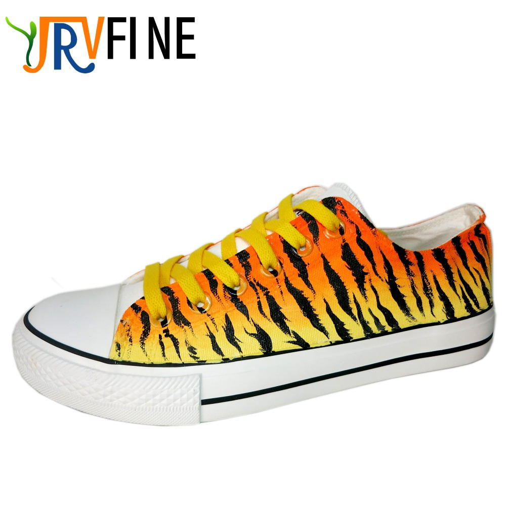 Yjr Fashion Leopard Gradient Rainbow Graffiti Shoes Students Hand Painted Shoes Men Shoes Casual Outdoor Walking Men Shoes In Mens Casual Shoes From Shoes
