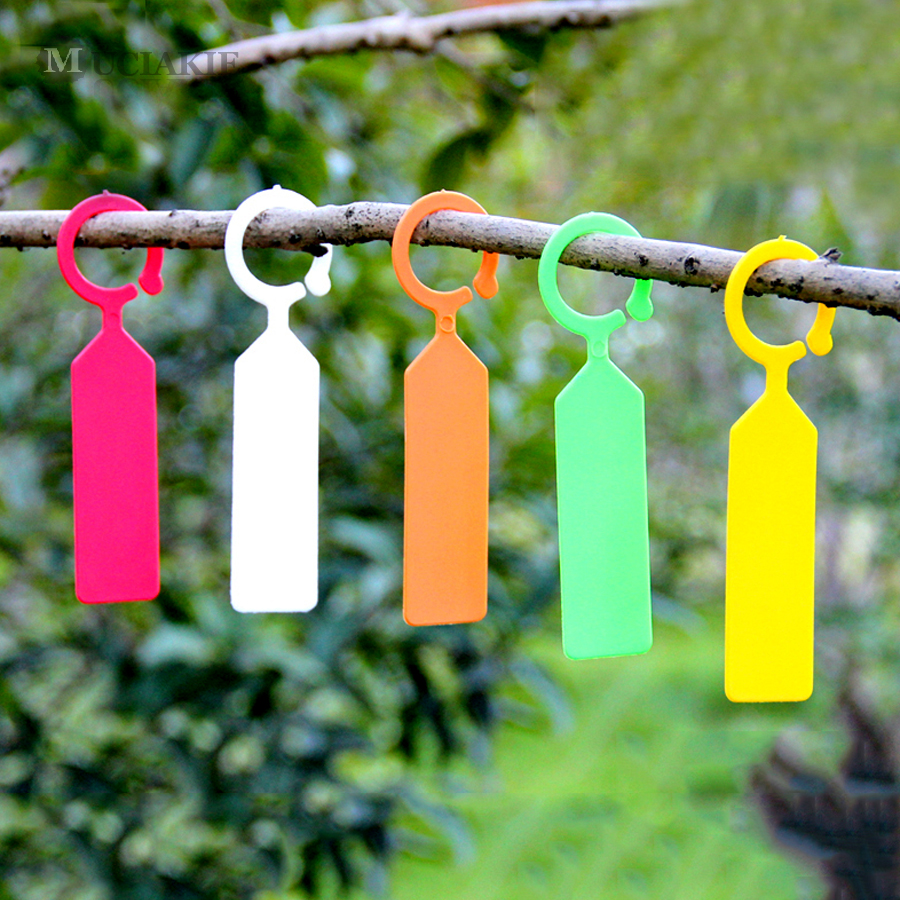 50PCS High Quality Plastic Plants Tags Nursery Garden Ring Label Pot Marker Stake Hanging Tags Greenhouse Bonsai Collar Tags