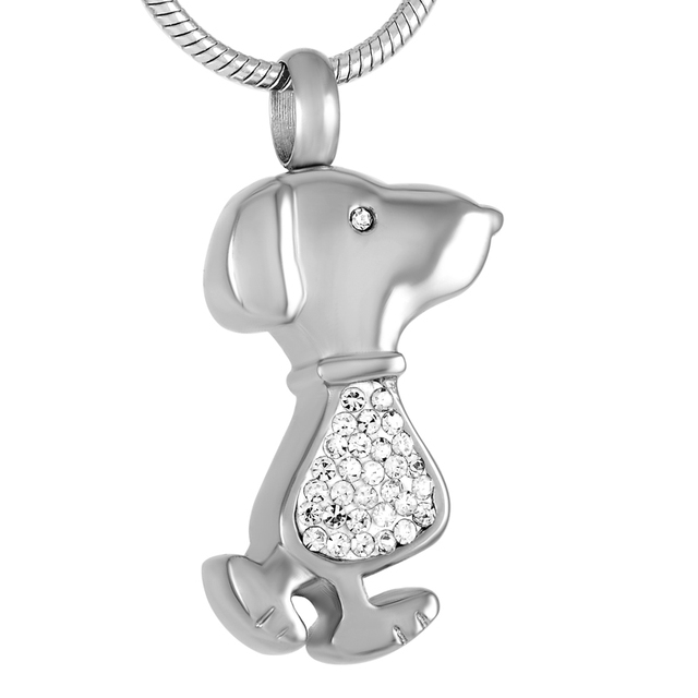 Cremation Stainless Steel Dog Shaped Necklace