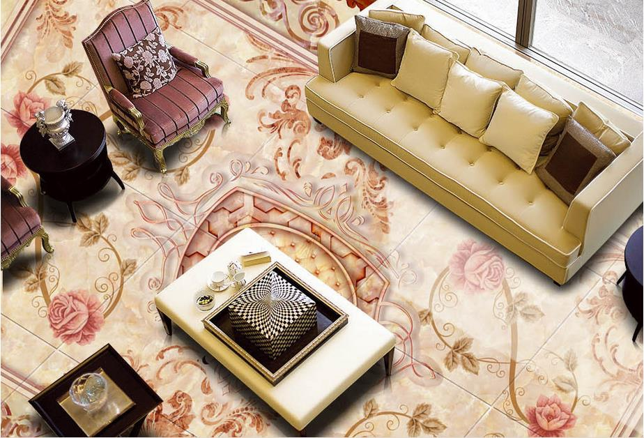 3d floor murals custom wallpaper 3d floor photo mural wallpaper Marble pattern mosaic vinyl flooring living room 3d floor murals custom wallpaper 3d floor photo mural wallpaper flower european marble pattern vinyl flooring living room