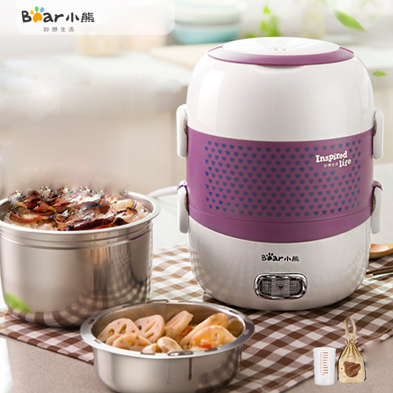 Bear DFH-S263 Electric Lunch Box Electric Box Heating Plug The Lunch Box Insulation Sealed Cooking Negative Pressure Seal bear dfh s2516 electric box insulation heating lunch box cooking lunch boxes hot meal ceramic gall stainless steel