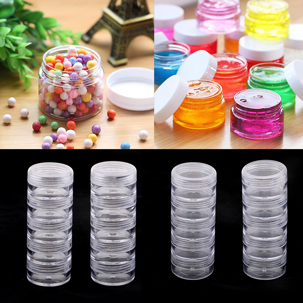 2 Sets 10pcs Boxes Stackable Screw Top Jar Stacking Container For Holding Balm, Crafts, Cream, Small Crafts