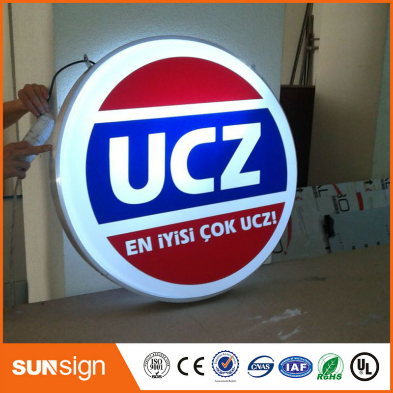 Custom Aliexpress Advertisement Sign Boards LED Light Box Advertising