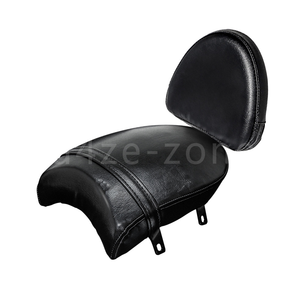 Leather Rear Passenger Cushion Pillion Seat Rear Backrest Sissy Bar For Victory Boardwalk Judge 13 Kingpin