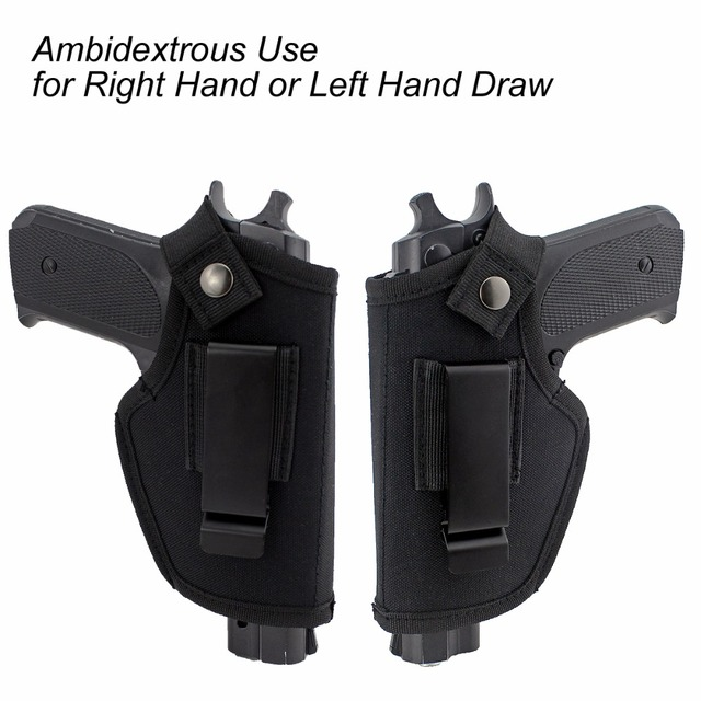Gun Clip Holster Ultimate Concealed Carry IWB OWB Holster for Right Hand or Left Hand Draw fits Subcompact to Large Handguns  5