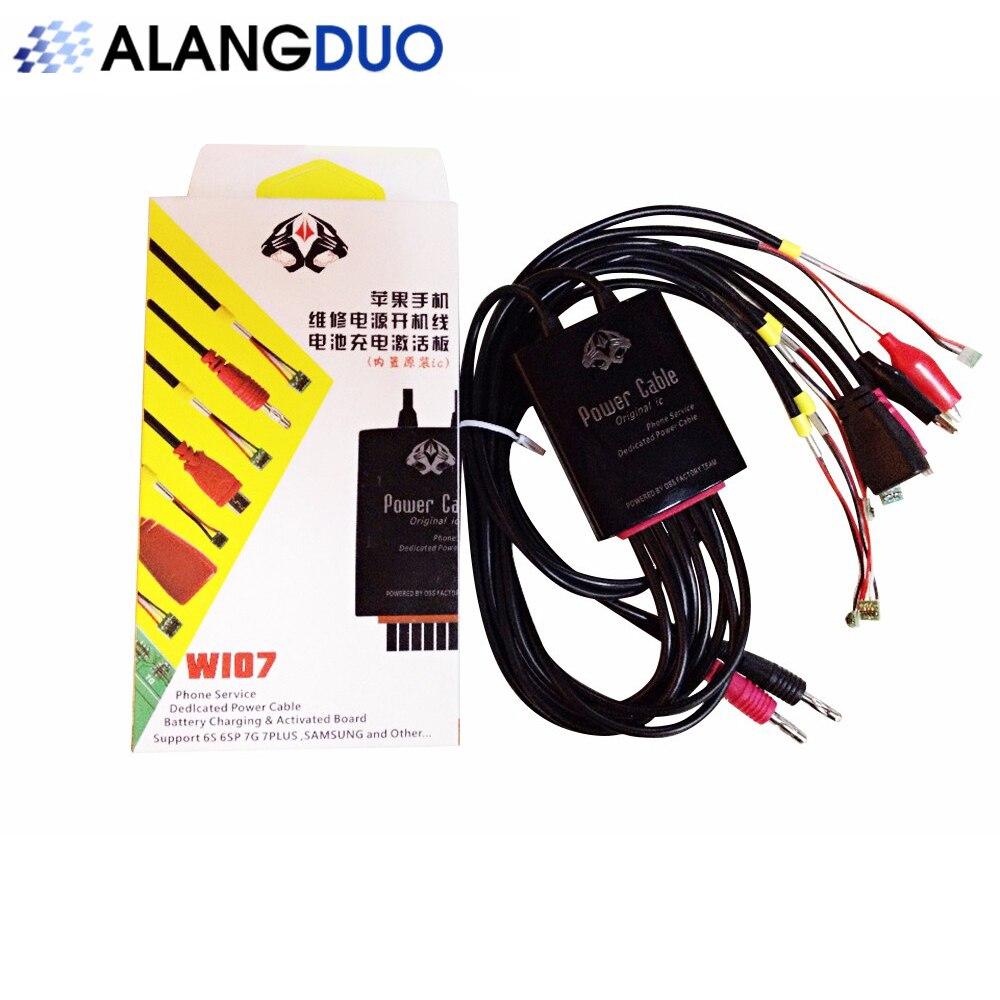 imágenes para ALANGDUO Original IC Dedicado Cable De Alimentación Para el iphone 7 7 Plus 6 s para Samsung Cargador de la línea línea de Prueba de Línea de Alimentación de CC Regulada + Regalo