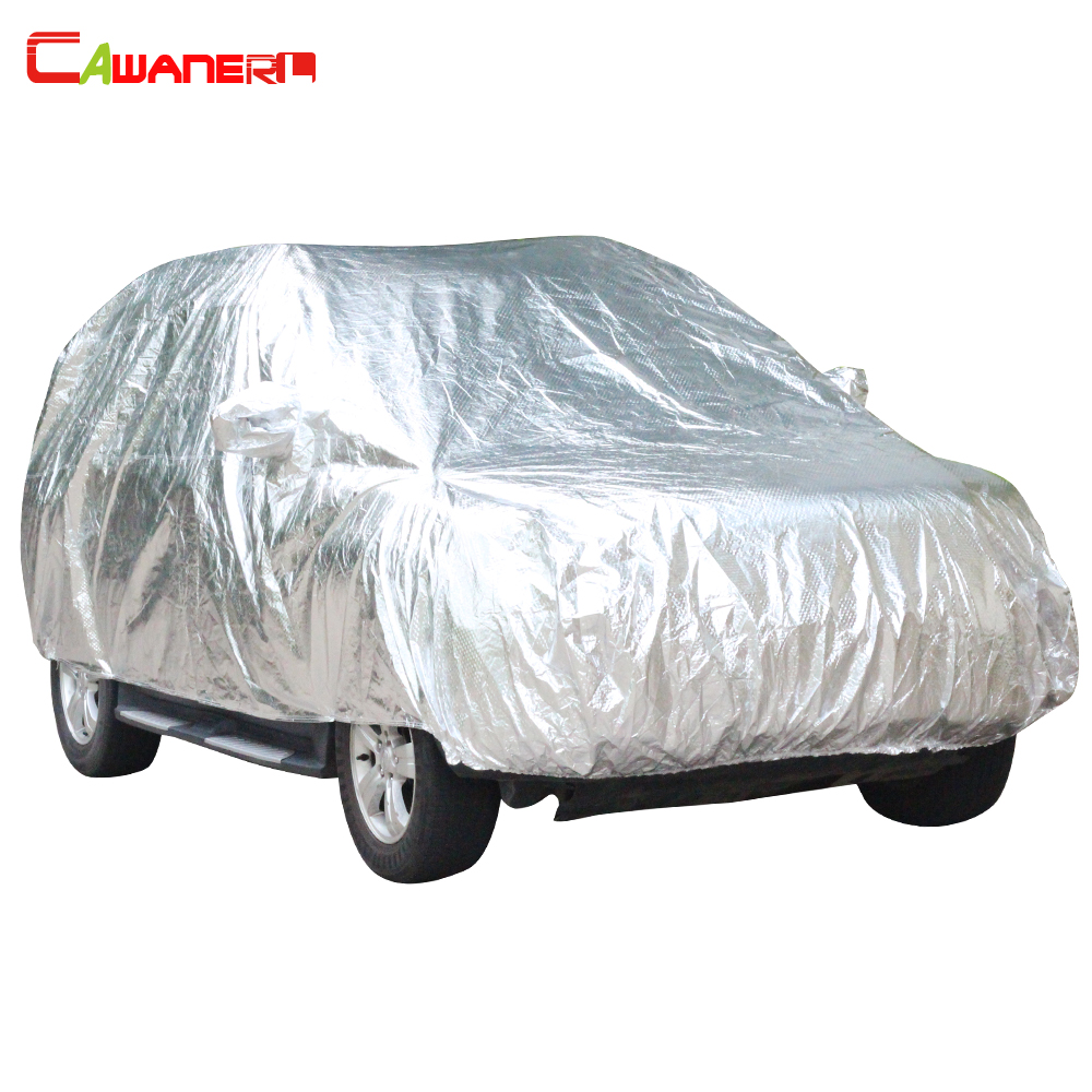 Cawanerl Aluminum Foil Waterproof Car Cover Outdoor Winter Snow Hail Resistant Summer Super Sun Protection Cotton