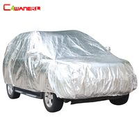 Cawanerl Aluminum Foil Waterproof Car Cover Outdoor Winter Snow Hail Resistant Summer Super Sun Protection Cotton Inside
