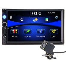 2 din autoradio Autoradio Multimedia Player GPS-Navigation Bluetooth AUX MP4 MP5 Stereo Audio Auto Elektronische lenkung-rad