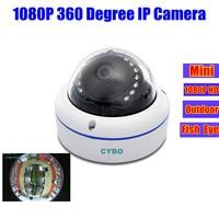 Fisheye 360 graden mini 2mp ip camera 1080 p hd outdoor panoramisch netwerk ip surveillance groothoek dome security onvif camera