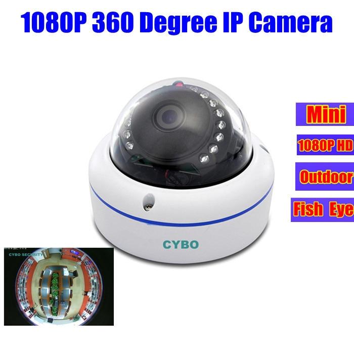 fisheye 360 degree mini 2mp ip camera 1080P HD outdoor panoramic network ip surveillance wide angle dome security onvif cameras poe fisheye wide angle 1080p ip camera p2p network security onvif