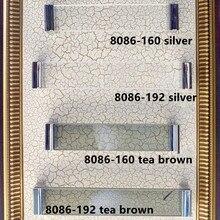 160mm modern fashion glass crystal furniture handle silver wardrobe cabinet door handles 192mm tea brown crystal dresser pull