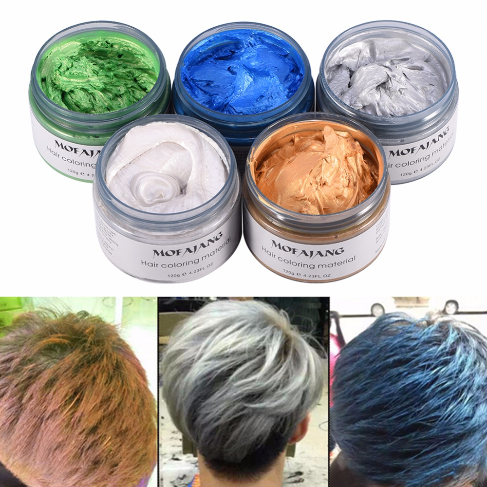 Details about 120g Hair Coloring Wax Silver Ash Grey Strong Hold Temporary  Hair Dye Gel