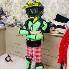 Детская броня для верховой езды, ударопрочный костюм, полный комплект гоночного рыцаря, защитное снаряжение, защита внедорожных двигателей