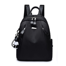 Oxford cloth backpack female 2019 new wave Korean version of the bag female college wind student wild fashion canvas backpack luodun 2018 new backpack female shoulder bag leather fashion korean wave simple bag college wind mini bag ladies bag
