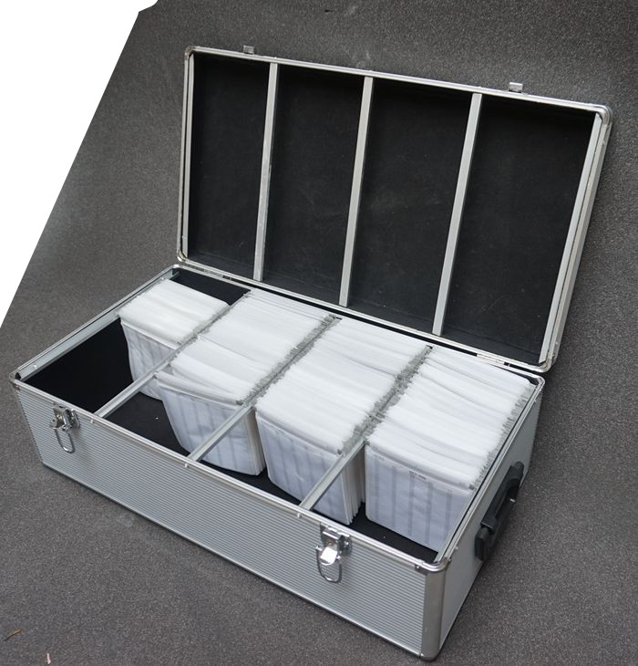 High-grade  Aluminum case tool case toolbox 60x32x20CM 750 pieces of CD box Aluminum alloy disc box CD case Software box CD bin high quality aluminum alloy flute case material high grade luxury dizi box can hold 5 pieces flauta free shipping