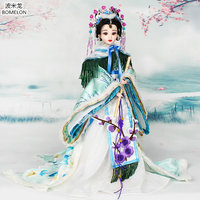 31cm Tang Dynasty Princess Jointed Doll Action Toy Figures Handmade Chinese Ancient Costume Bjd Dolls Girls