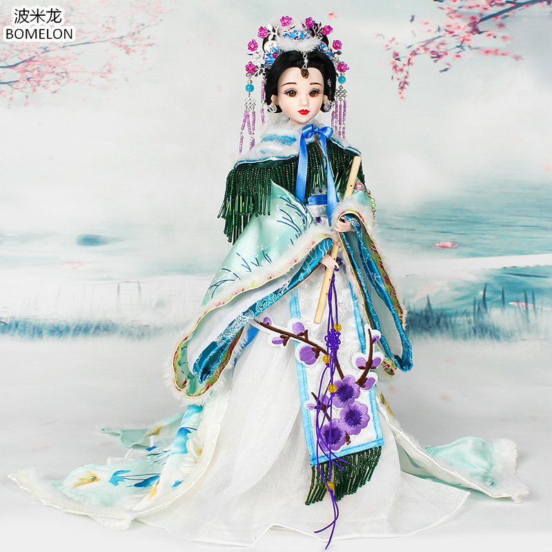 31cm Tang Dynasty Princess Jointed Doll Action Toy Figures Handmade Chinese Ancient Costume Bjd Dolls Girls Christmas Gift pure handmade chinese ancient costume doll clothes for 29cm kurhn doll or ob27 bjd 1 6 body doll girl toys dolls accessories