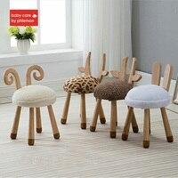 Babycare детское кресло современный дизайн мягкое однотонное деревянное сиденье животный дизайн дети милый ребенок детский деревянный стул ди