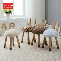 Babycare Baby Chair Modern Design Soft Solid Wooden Seat Animal Design Kids Cute Lovely Child Kid Wood Chair Sofa Best Gifts