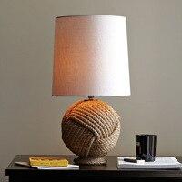 Вкус американский кантри Лен простой минималистский сад Освещение творчески Стиль Спальня ночники a270