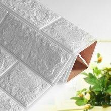 3D самоклеющиеся водостойкие обои 60*60*0,8 см ТВ задний план кирпичная стена стикеры Гостиная Декоративные Стикеры для спальни