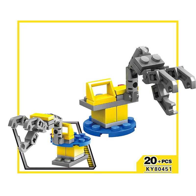 KAZI 16 in 1 City Construction Excavator Forklift Building Blocks Compatible legoed Brinquedos Educational Toys For Children