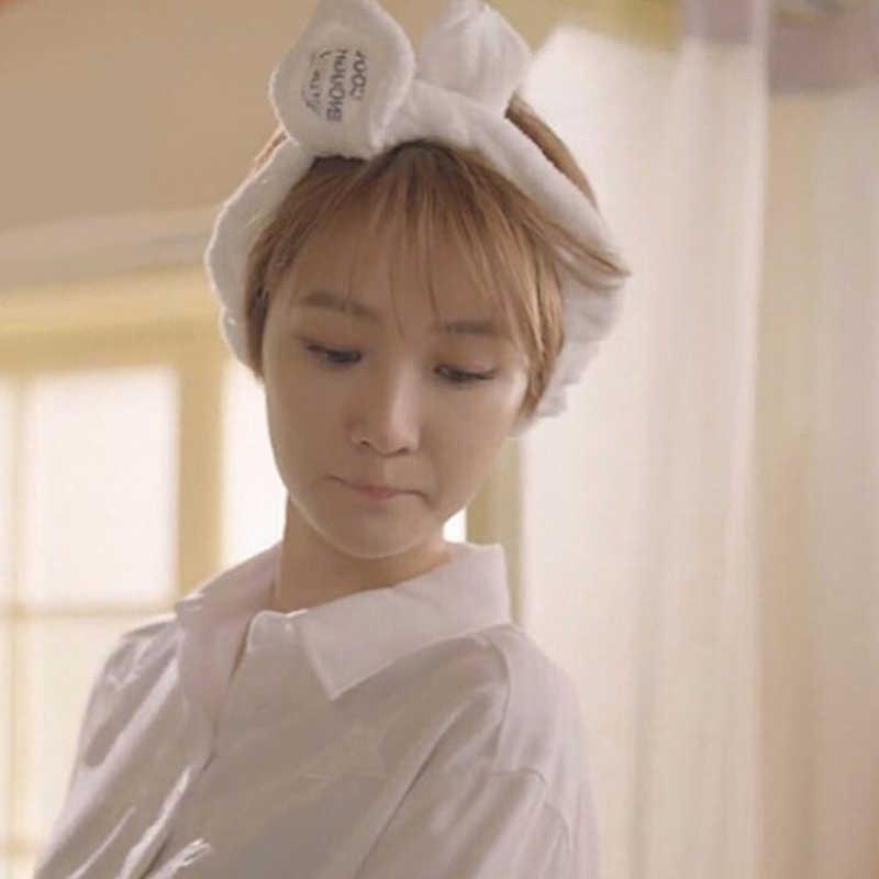 ... Sale Cut Big Rabbit Ear Soft Towel Hair Band Wrap Headband For Women  Bath Kids Girls ... 67e93c675411