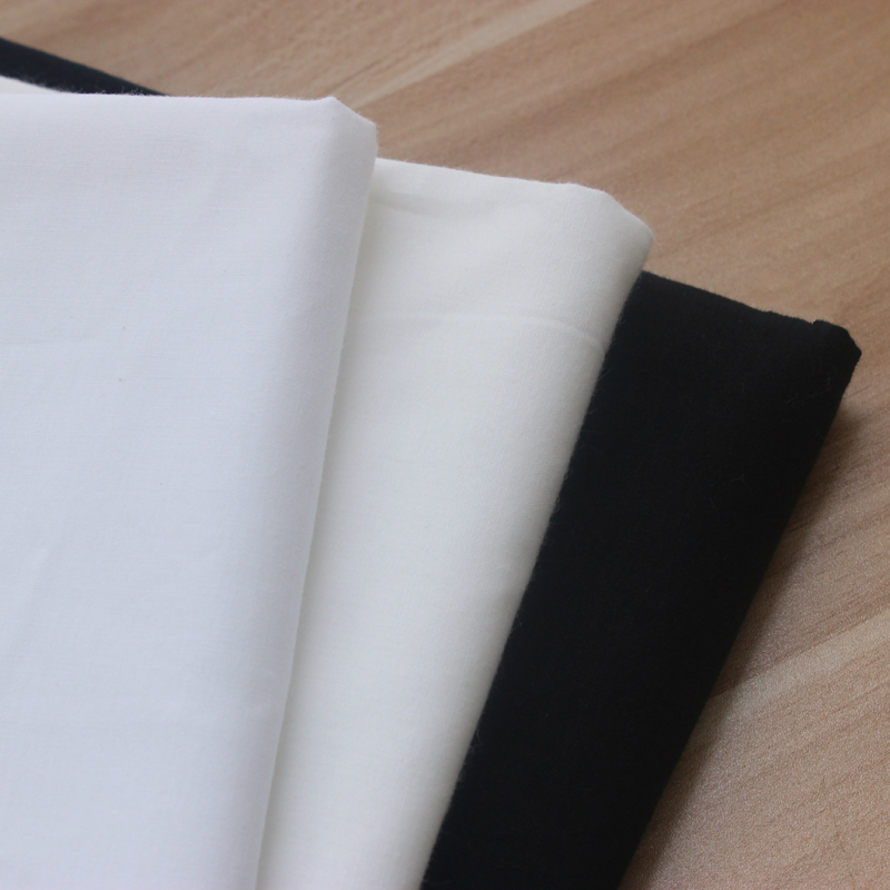 150cm X 50cm Breathable Thin White Black Plain Cloth Lining Cotton Manual DIY Cloth Cotton Pillow Lining Cloth 158g m in Fabric from Home Garden