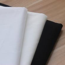 150cm X 50cm Breathable Thin White Black Plain Cloth Lining Cotton Manual DIY Pillow 158g/m