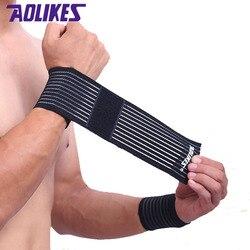AOLIKES 1 Pcs wrist band men women elastic bandage for hand wrist strap wrap fitness wristband sport gym support wrist protector