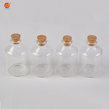 45ml Transparency Glass Bottle With Corks For Wedding Holiday Decoration Christmas Jars