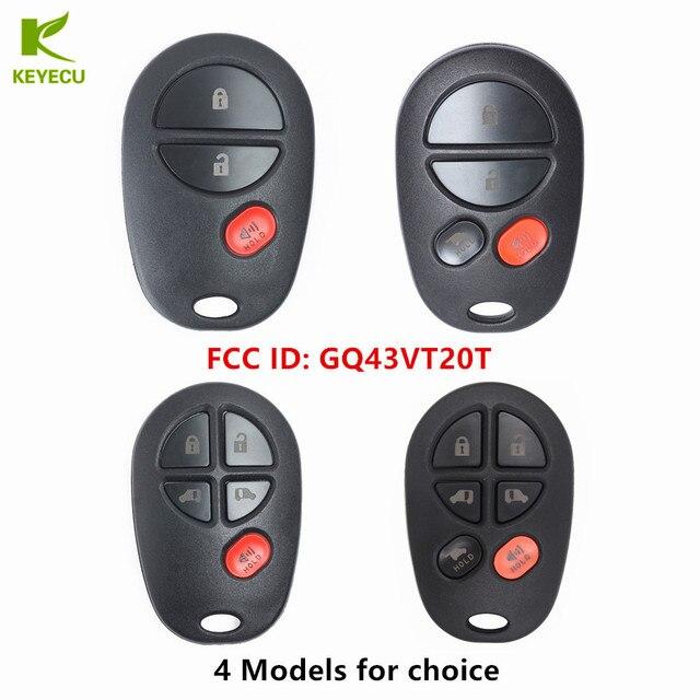 Keyecu Replacement Remote Car Key Fob Fcc Id Gq43vt20t For Toyota Sienna 2004 2005 2006 2007 2008 2009 2010 2017