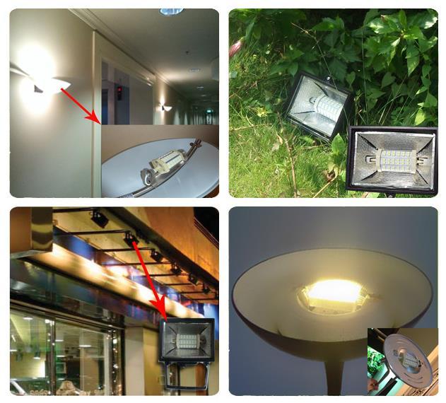 Купить с кэшбэком 30w COB led R7S light 118mm dimmable R7S bulb lamp No fan J118 R7S RX7S 300w halogen lamp 110-240V