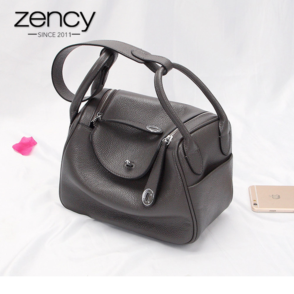 Zency New Doctor Style 100% Genuine Leather Women's Handbags Classic Lady Shoulder Purse Crossbody Messenger Bag Tote Satchel zency 2017 new 100