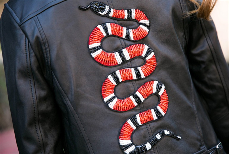 Aliexpress buy large snake beaded patch serpent