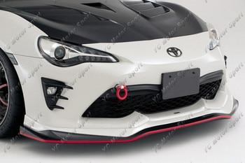 Accesorios para el coche fibra de carbono VS suring I Style frontal de labios para 2017-2018 GT86 FT86 ZN6 FRS frontal parachoques menor divisor