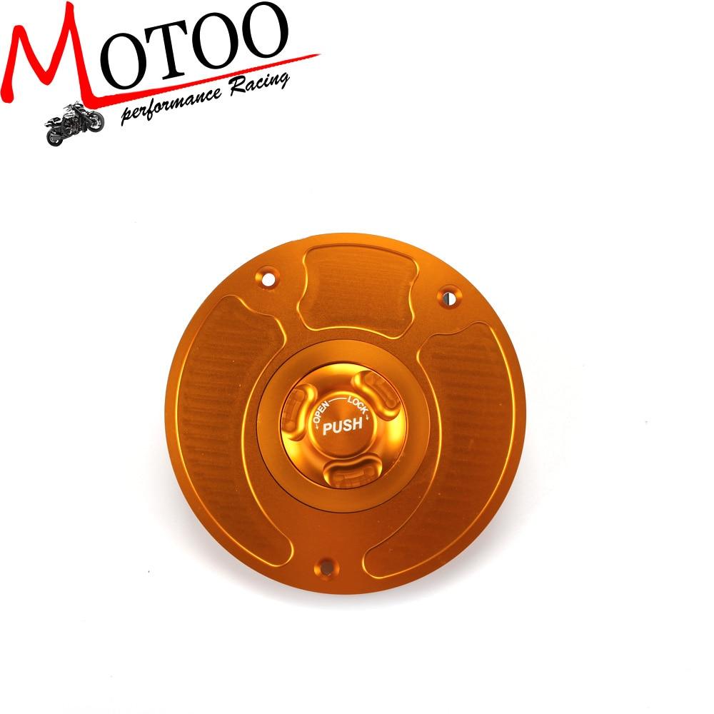 Motoo - Motorcycle New CNC Aluminum Fuel Gas CAPS Tank Cap tanks Cover With Rapid Locking For honda CBR 600 F4I F4 F3  CBR600RR