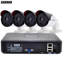 GADINAN 4CH NVR Kit 1080P CCTV NVR 4PCS 1080P P2P IP Night Vision Camera Home Security Surveillance System Kit