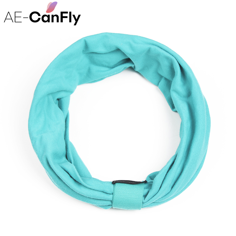 AE-CANFLY New variety of wear method Cotton Elastic Sports Headbands Wide Headband HB054