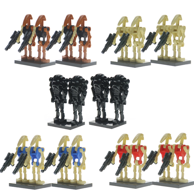 4pcslot Star Wars Super Battle Droid Ro Gr K2so Figures Starwars