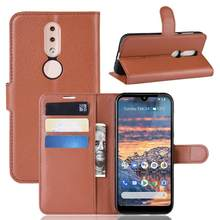 Phone Case For Nokia 1 Plus 4.2 Flip PU Leather Back Cover Case For Nokia 4.2 Wallet Smartphone Bag Coque Funda Screen Protector(China)