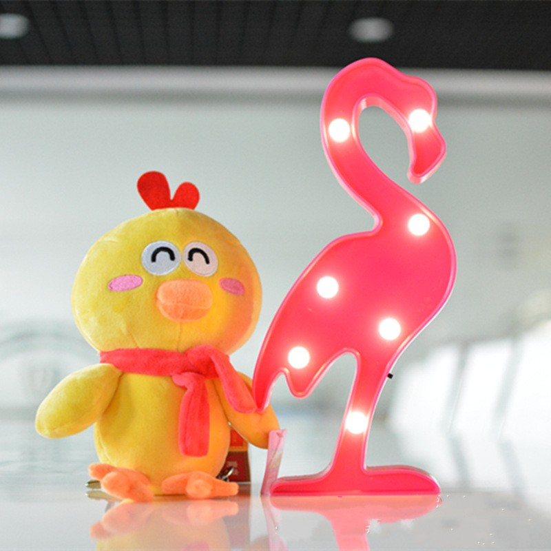 1 sztuk 3 V LED Lampka nocna Flamingo Ananas Kaktus Lampka nocna - Lampki nocne - Zdjęcie 2