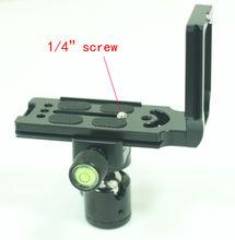 Kit Quick Release Placa L Bracket com bola cabeça grampo para Câmera DSLR tripé