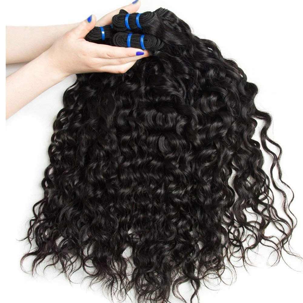 Yavida волосы волна воды пучки с бразильские волосы с закрытием пучки переплетения с закрытием Remy человеческие волосы 3 пучка с закрытием