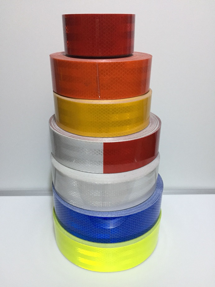 Roadway Safety Independent 5cm Wide Self-adhesive Pet Super Reflective Warning Safety Tape 45m/roll Reflective Material