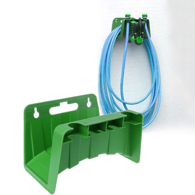 1pc New Hot Wall Mounted Garden Hose Pipe Hanger Holder Storage Bracket  Shed Fence Cable Plastic
