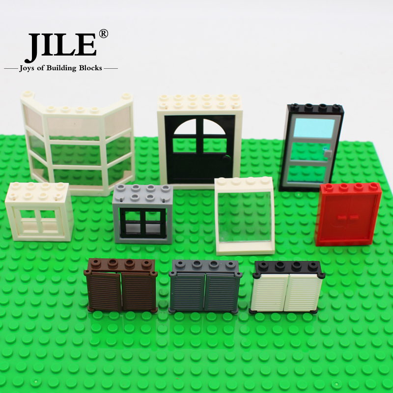 Free Shipping!moc DIY building enlighten block bricks Compatible With Assembles Particles my city window door free shipping plate 1x2 w 1 knob diy enlighten block bricks compatible with assembles particles