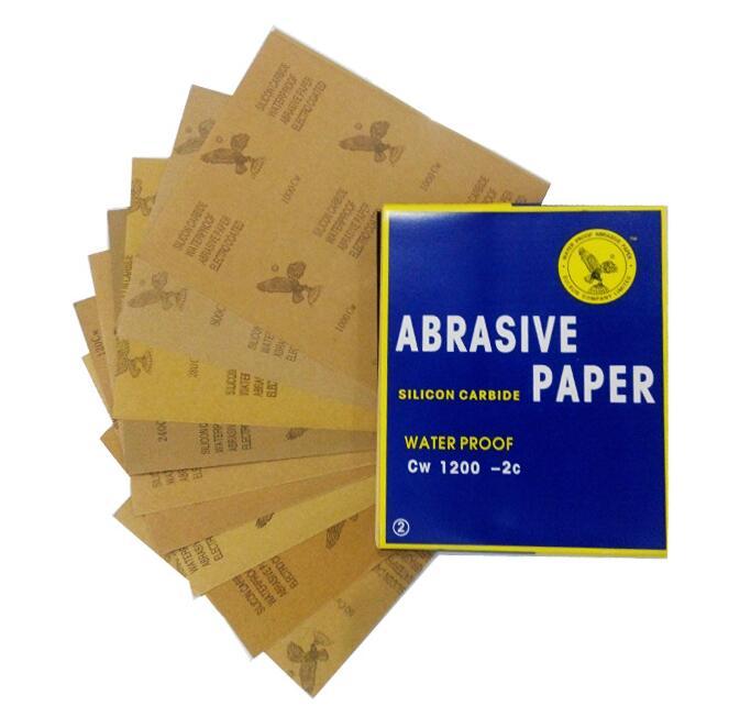 30 Sheets Waterproof Sandpaper 400 600 800 1000 1200 1500 Grit Sandpaper Skin Abrasion Polished Paper 28x23cm/11