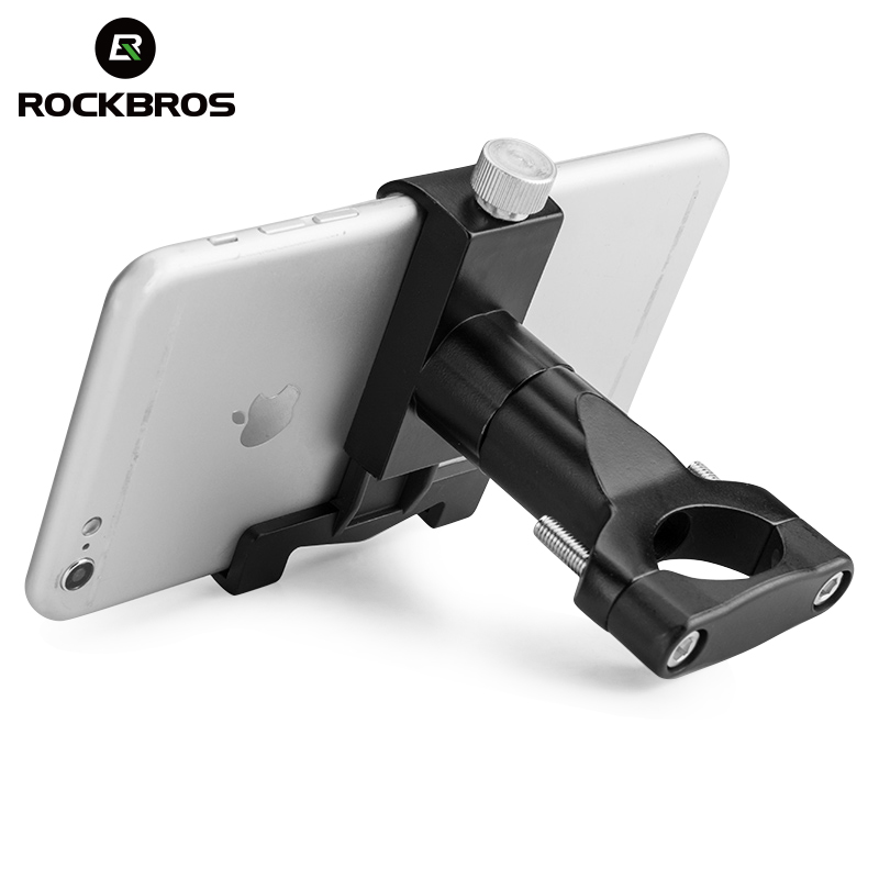 Aluminum Bicycle Holder Alloy Motorcycle Bike Handlebar For Cell Phone GPS Mount
